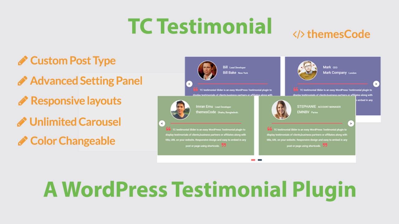 Best WordPress Testimonial Plugin - Create A Testimonial Slider Free 2017
