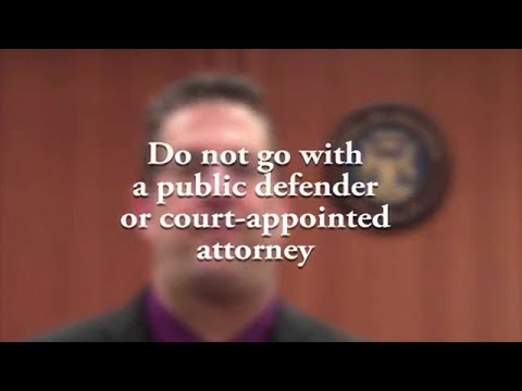 Do Not Go With a Court Appointed Attorney or a Public Defender!