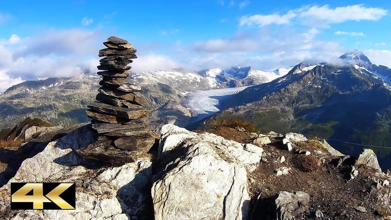 360° Panorama vom Tällistock, 2861 m   Obergoms, Wallis
