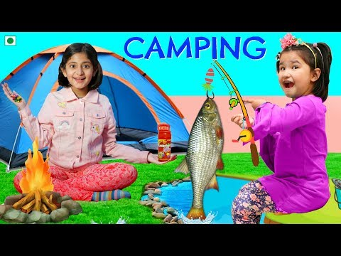 Kids Pretend Play CAMPING | ToyStars