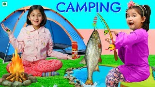 Kids Pretend Play CAMṖING | ToyStars