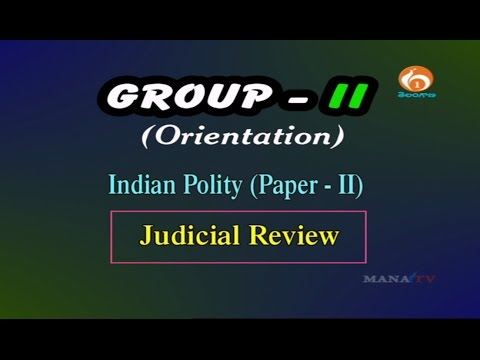 GROUP-II PAPER-2 INDIAN POLITY (Judicial Review) Live @25/10/2016