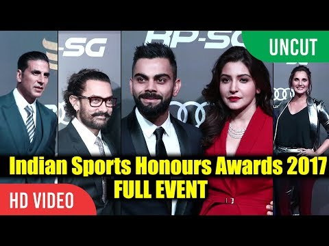 UNCUT - Indian Sports Awards 2017 | Full Event | Virat Kohli, Anushka, Sania Mirza, Aamir Khan