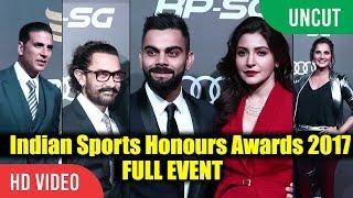 UNCUT - Indian Sports Awards 2017 | Full Event | Virat Kohli, Anushka, Sania Mirza, Aamir Khan