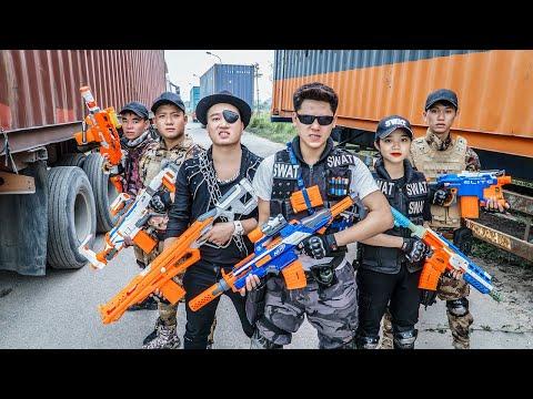 LTT Game Nerf War : Warriors SEAL X Nerf Guns Fight Crime group Inhuman Against Intruders