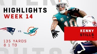 Kenny Stills Highlights vs. Patriots
