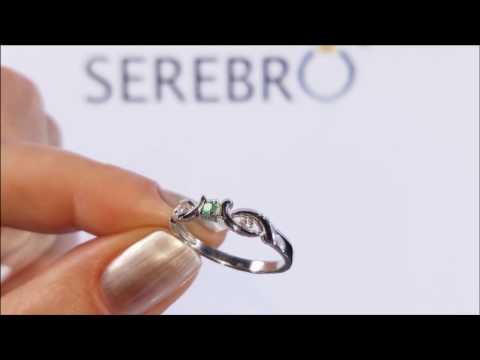 Кольцо из серебра с натуральным изумрудом Парадиз (арт. К2121И)