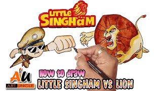 Wie zieht man Wenig Singham Vs Lion Schritt für Schritt | (Art Tutorial)