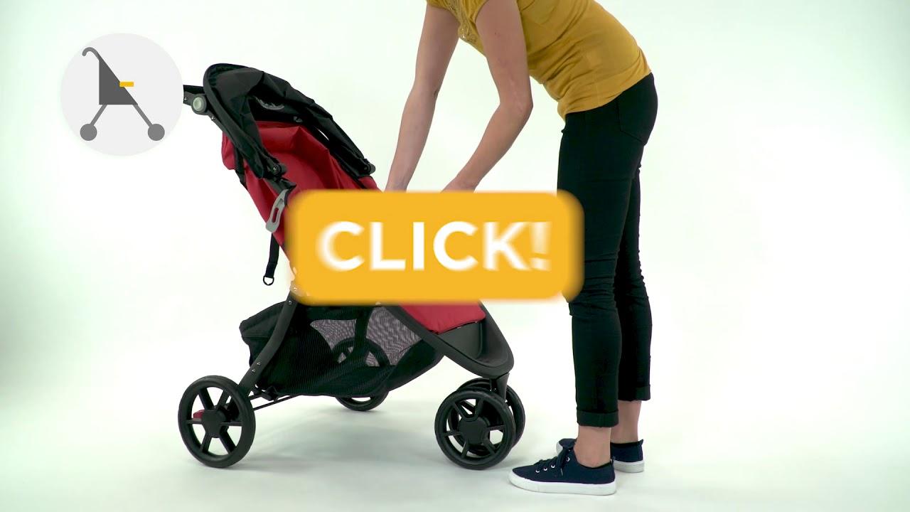 99cef3da5 Safety 1st Urban Trek 2 in 1 travel system 3-wheels stroller instruction  video
