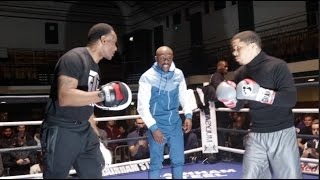 EXPLOSIVE SPEED!! GERVONTA DAVIS PADWORK UNDER INSTRUCTIONS OF MENTOR FLOYD MAYWEATHER