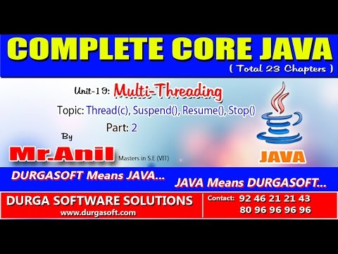 core java multi threading thread c suspend resume stop part 2
