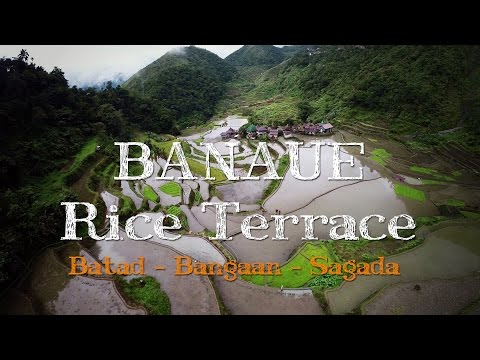 Banaue, Batad & Bangaan Rice Terraces in Philippines from the air - Drone Video 2015