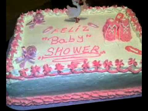 Pastel De Baby Shower Para Nia Youtube