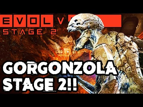 CRAZY LONG GORGON CLASH!! EPIC STAGE TWO MATCH!! Evolve Gameplay Walkthrough (PC 1080p 60fps)