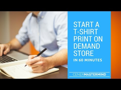 Setup A T-Shirt Print on Demand Shopify Store In 60 Minutes