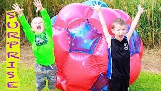 Worlds Largest Ball Surprise Gigaball Giant Ball Surprise Eggs Disney Frozen Toys Hot Wheels Nerf