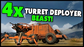 Crossout - 4x TURRET DEPLOYER BEAST & Dual Crossbow Build! (Crossout Gameplay)
