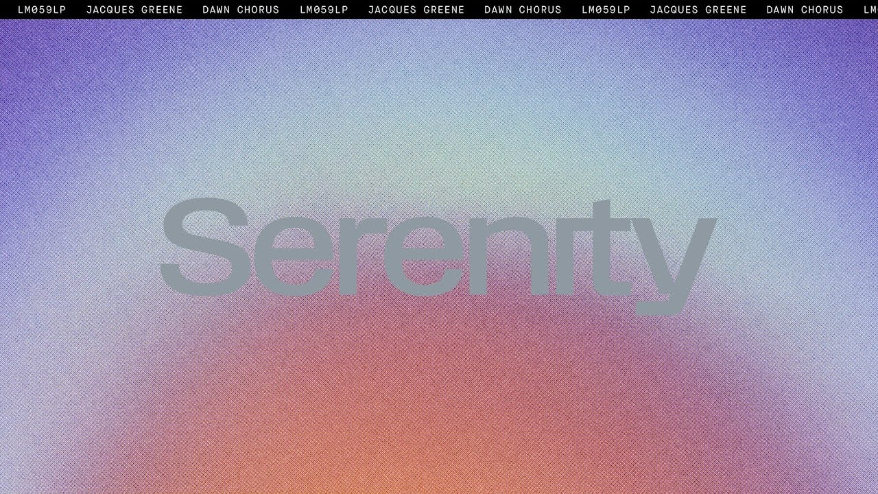 Download Jacques Greene - Serenity