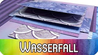 How to: Grundtechnik Scrapbook Wasserfall | Scrapbooking & Karten Tutorial | kreativbunt