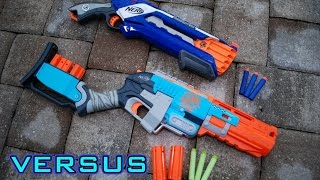 [VS] Nerf Rough Cut vs. Nerf SledgeFire   Which is Better?! Video