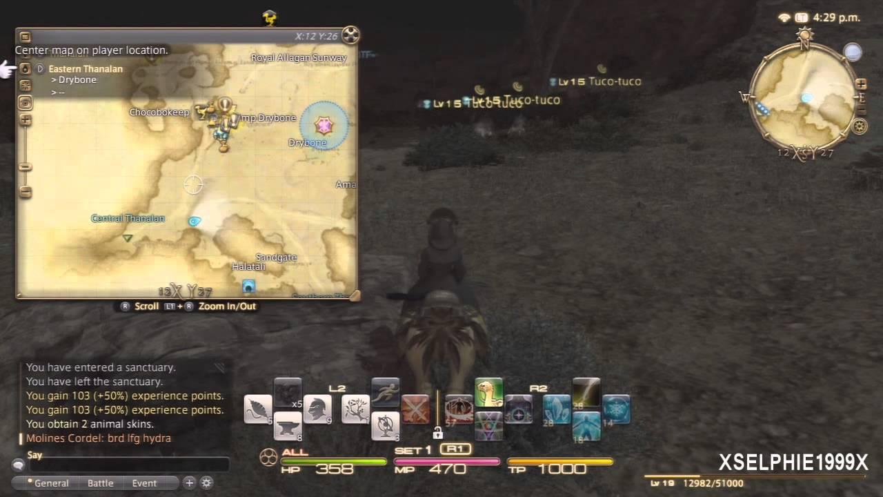 Final Fantasy XIV A Realm Reborn - Thaumaturge Hunting Log (Rank 2 ...