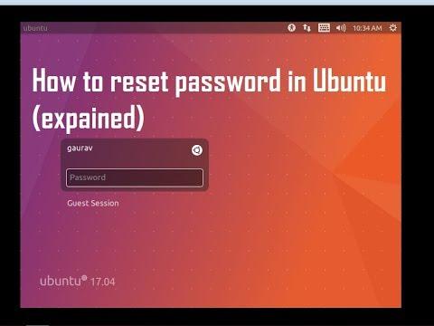 Reset root password for ubuntu 16.04