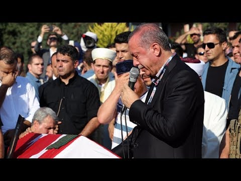 Erdoğan Could Not Hold Back His Tears At Erol Olcak And Mustafa Cambaz's Funerals