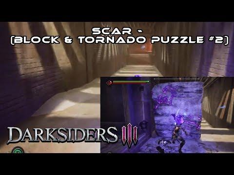Darksiders 3 - Gameplay Walkthrough (Scar - Block & Tornado Puzzle #2) I PS4 Pro
