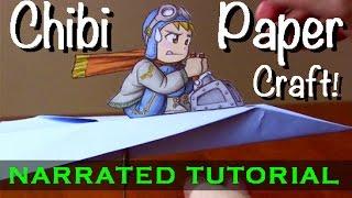 Chibi Paper Craft Tutorial: Paper Airplane Pilot!
