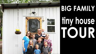 Tiny House Tour Family Of 9 In 575 Sq Ft