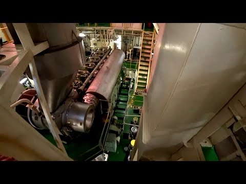 Engine room tour of Chemical Tanker.
