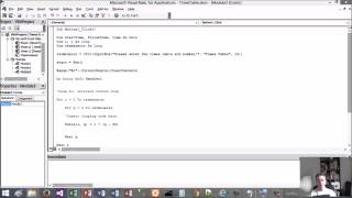 Excel VBA Tutorial 12 - For Loop to create multiplication table