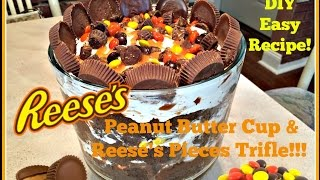 Diy Peanut Butter Cup & Reese's Pieces Trifle! Easy Recipe To Do With Kids!