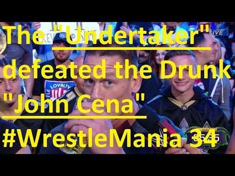 Download reasons why The Undertaker squashed John Cena at WrestleMania 34