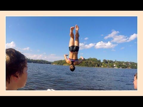FLIPPIN' GYMNASTICS OFF THE BOAT | Flippin' Katie
