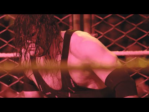 Thumbnail: Get up-close and personal for Kane's Steel Cage sneak attack on Roman Reigns