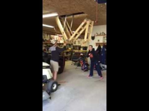 Attic Ladder Pulley System Youtube