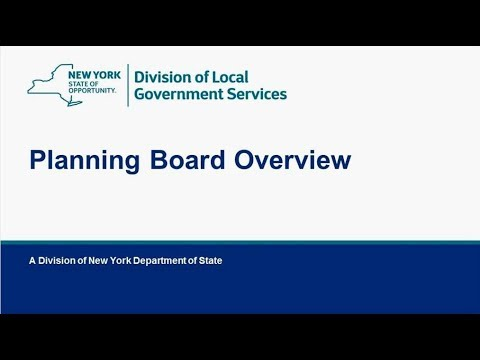 Planning Board Overview