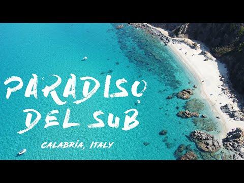 Spiaggia Paradiso del sub (Zambrone) drone view