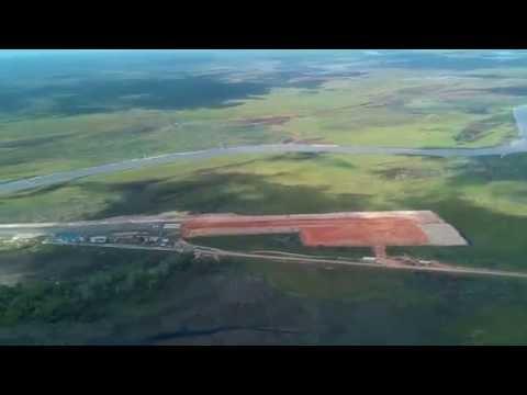 End-of-Runway Landing Susi Air Cessna Grand Caravan at Kepi Airport KEI