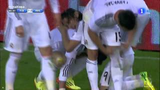 Gareth Bale Fantastic Goal ~ FC Barcelona vs Real Madrid 1 2 Finale Copa Del Rey 16 04 2014 HD 720p