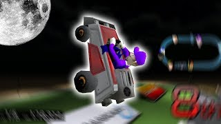 Waluigi Drives to the Moon [We broke the game] || Logan Kart