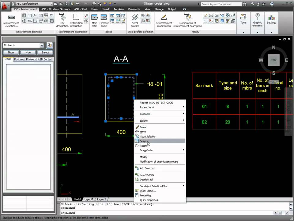 AutoCAD 2011 Structural Detailing Tutorial: Reinforcement Bar Definition