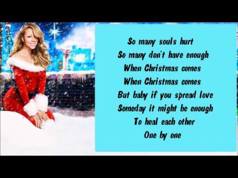 Mariah Carey - When Christmas Comes  + Lyrics