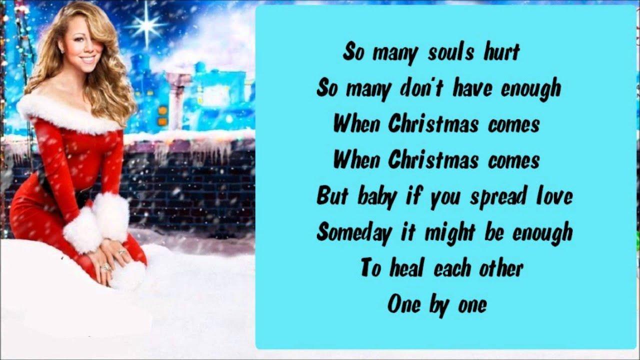 Mariah Carey Christmas Song.Mariah Carey When Christmas Comes Lyrics