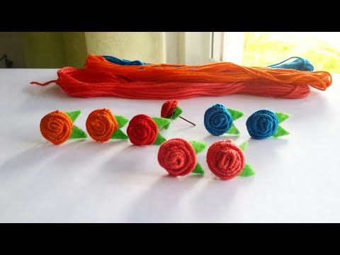 DIY flower earrings/How to make flower earrings/DIY jewelry