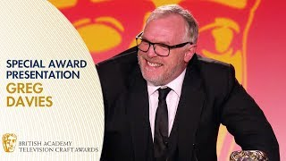 Greg Davies39 Hilarious Special Award Presentation Speech  BAFTA TV Craft Awards 2019