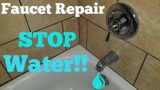 Faucet Repair | Shower Bathtub Won't Stop Running Water