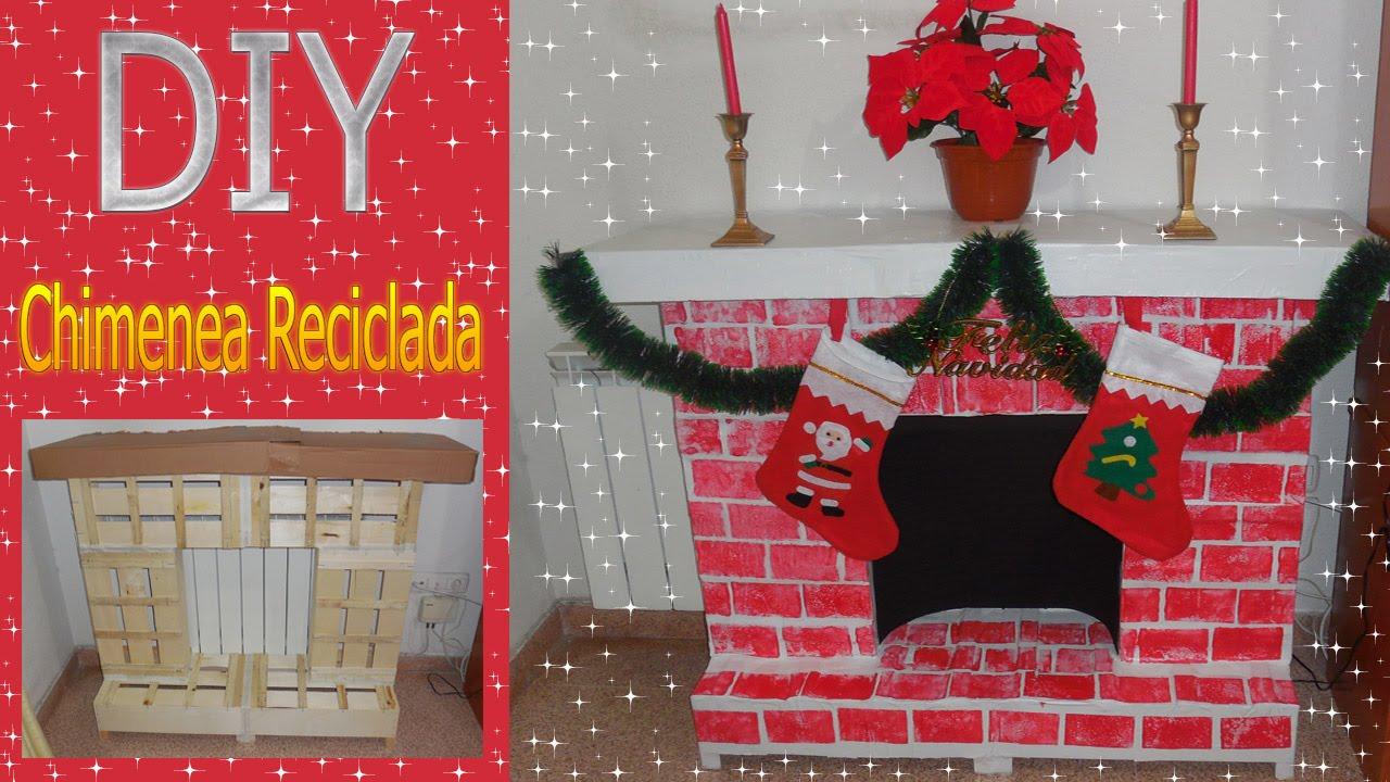 Crea tu chimenea reciclada decoracion de navidad d i y - Decoracion de chimeneas ...