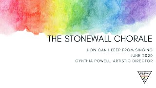 """Virtual Stonewall Performance of """"How Can I Keep from Singing"""""""
